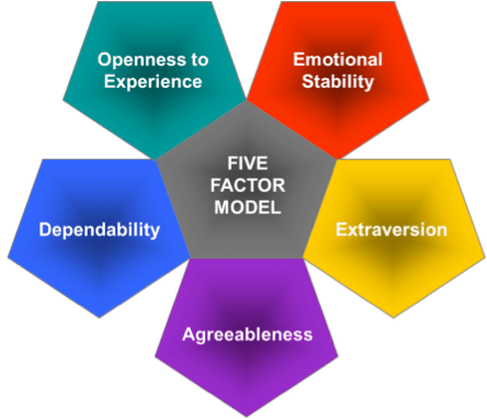 five factor theory This paper will examine the five factor model (ffm mccrae & costa, 1987) under the trait theories approach, drawing information from mainly two journal.